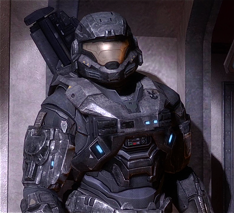 The canonical Mjolnir armor from the Halo franchise. Pic from the Halo wiki.